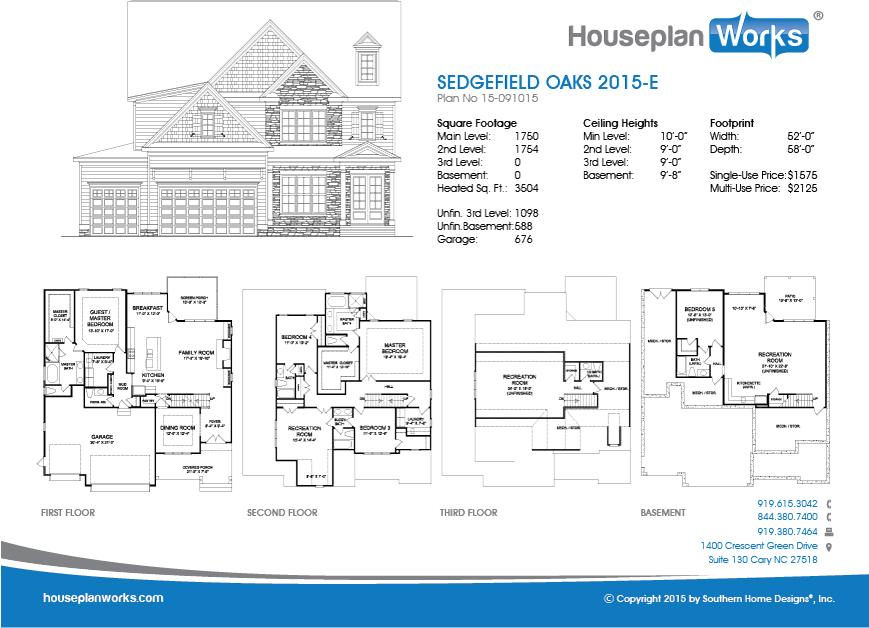 Sedgefield Oaks 2015 E Houseplan Works
